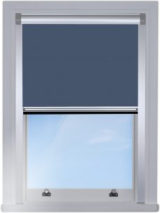 0017-009-fishermans-blue BlocOut blind fitted on the edge of the window with silver side channels