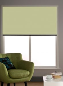 Blocout Cassette Blackout Blind in 0321-lime-green in lounge