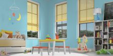 Three Sunshine 1149 Venetian Blinds set in a child's room