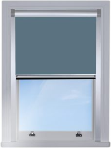 2228-224 Coastal- Blue-Blocout-edge fitted blind with silver side rails