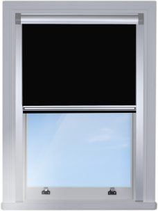 2228-228-jet-black-Blocout-blind edge fitted with silver side rails