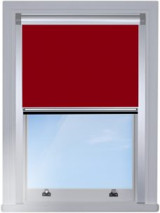 2228-804-redcurrant-Blocout blind with side rails in silver