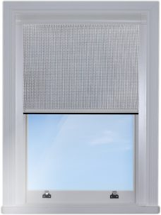 Blocout cassette blind with 240-fly grey fabric