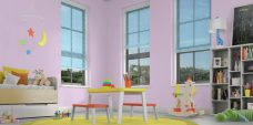 Three Sky 8507 Venetian Blinds 25 mm set in a child's room