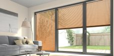 Three Wood Effect Pine 9945 Venetian Blinds set in a lounge