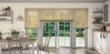 Three Wood Effect Pine 9946 Venetian Blinds set in a kitchen