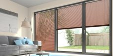Wood Effect Mahogany 9949 Venetian Blinds set in a lounge