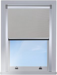 DG1830-PVC-Grey-Blocout-blind with silver side rails