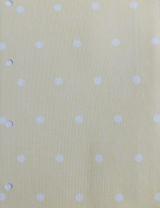 Lemon Polka Dot Blocout Fabric