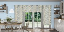 Three Azzura Aqua Blinds in a kitchen