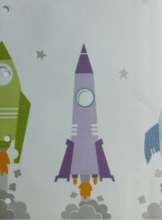 Blast Off Starlight blind fabric