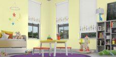 Three Blast Off Starlight blinds in a playroom