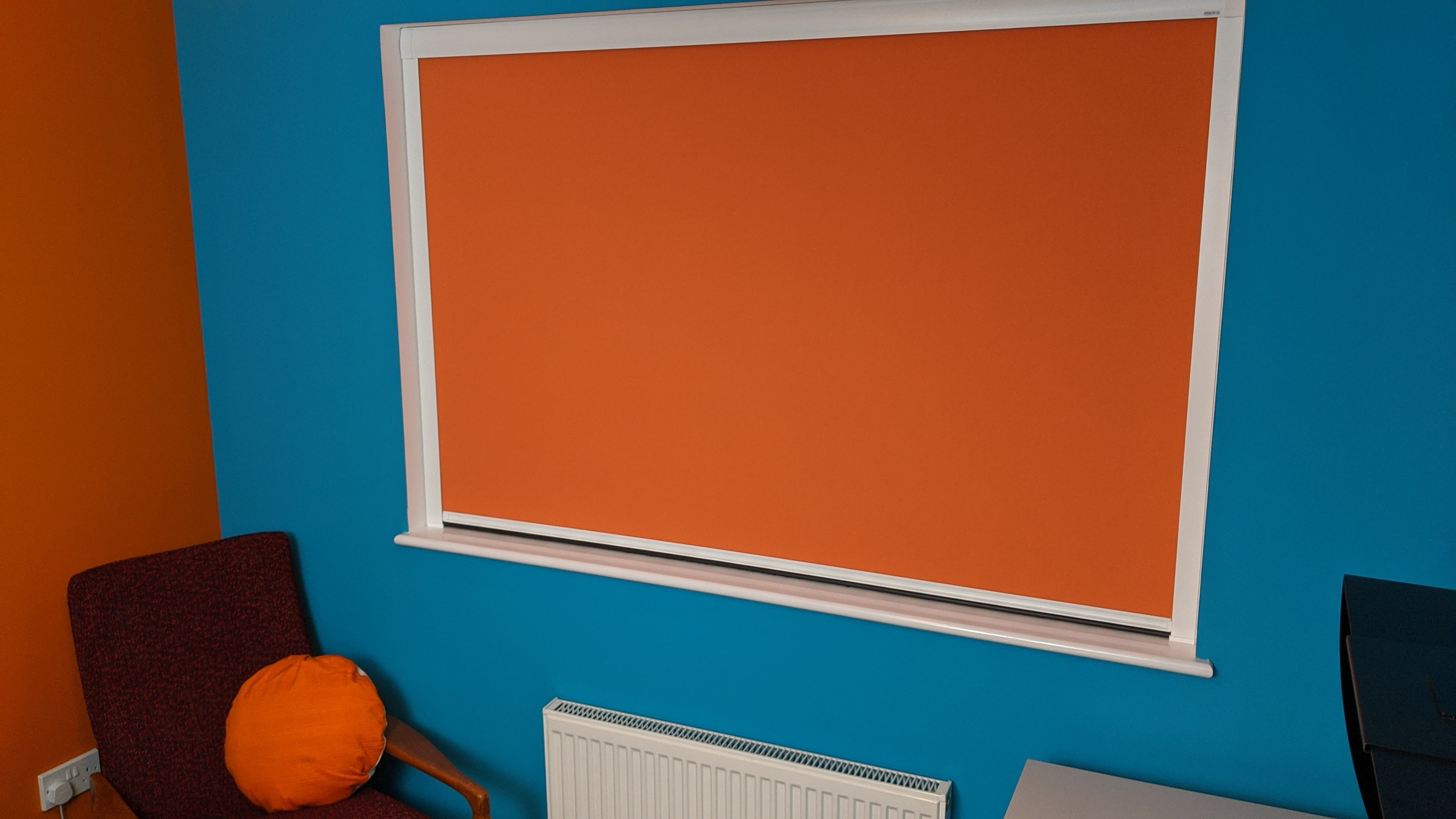 Blaze Blocout Cassette Blind in an office