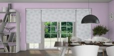Three Bonsai Aspen-Eclipse roller blinds in a kitchen