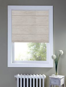 Brisbane Paper Roman Blind set in a recess window