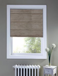 Brisbane Porcini Roman Blind set in a recess window