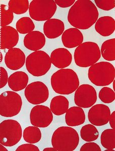 Buble Poppy Roman Blind fabric