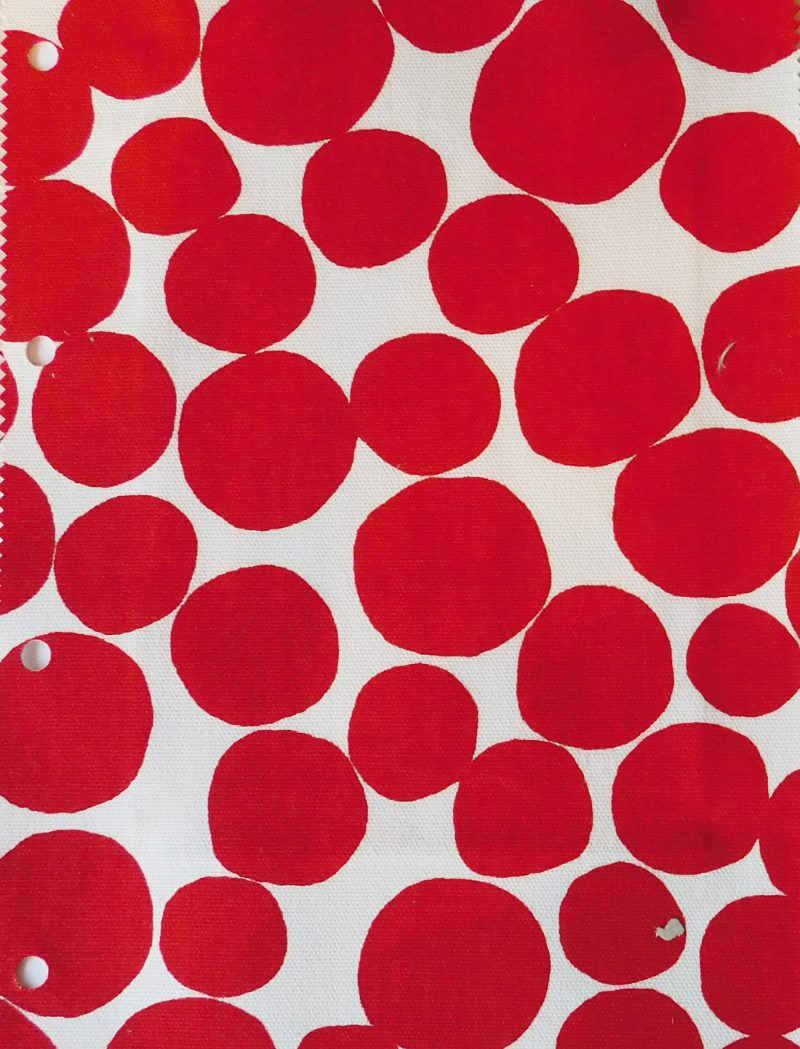 Buble Poppy Roman Blind fabric