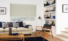 Capri Ivory Duplex Blind recess fitted in a lounge