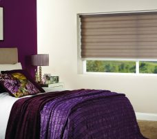 Capri Sand Duplex Blind recess fitted in a bedroom