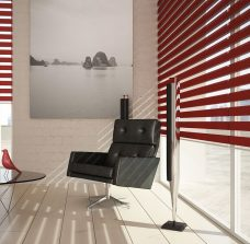 Two Capri Scarlet Duplex Blind recess fitted in a lounge