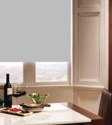 Carnival Birch Roller Blind in dining room setting