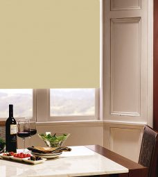 Carnival Buttercup Roller Blind in dining room setting