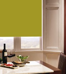 Carnival Chartreuse Roller Blind in dining room setting