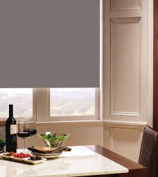 Carnival Clay Roller Blind in dining room setting