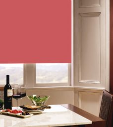 Carnival Coral Roller Blind in dining room setting