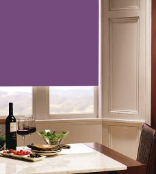 Carnival Grape Roller Blind in dining room setting