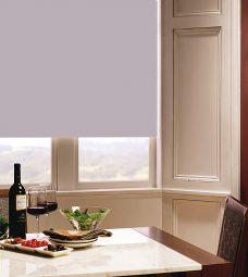 Carnival Heather Roller Blind in dining room setting