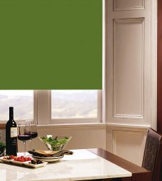 Carnival Kiwi Roller Blind in dining room setting