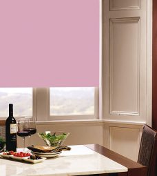 Carnival Peony Roller Blind in dining room setting