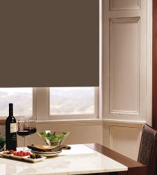 Carnival Praline Roller Blind in dining room
