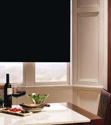 Carnival Raven Blind in beige dining room