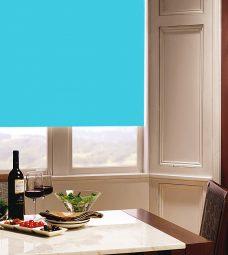 Carnival Scuba Roller Blind in dining room setting
