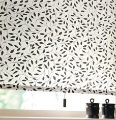 Chatsworth Black Roller Blinds close up