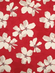 Claudia Strawberry Roman Blind Fabric