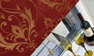 A Distinction Scarlet Roller Blinds -close up