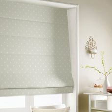 Dot To Dot Eggshell Roman Blind close up