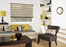Florence Maple Duplex Blind set in a lounge