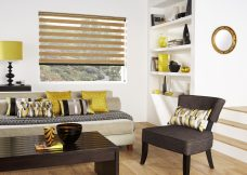 Florence Oak Duplex Blind set in a lounge