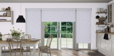 Japonica Silk blinds in a kitchen dinner