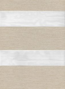Milan Ivory Duplex Roman Blind fabric