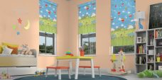 Three Nursery Rhymes Roller Blinds in a child's room
