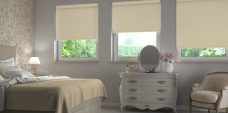 Palette Biscotti Blinds in a bedroom