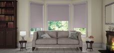 Three Palette Dusk Roller Blinds in a lounge