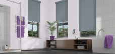 Three Palette Fog Roller Blinds in a bathroom