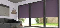 Three Palette Mulberry Roller Blinds in a lounge